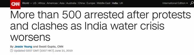 印度遭遇�乐馗珊当��l水危�C 500